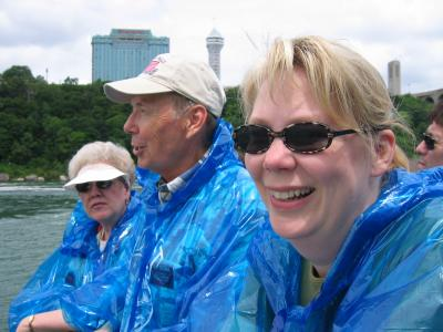 Paige and Parents at Niagara Falls